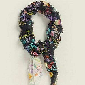 Furla Colored Floral Scarf